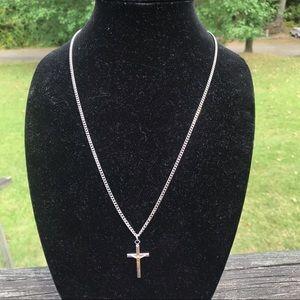 Vintage STERLING Cross Necklace